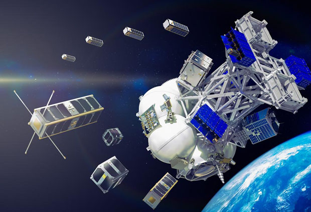 Cluster Of Eleven Small Satellites